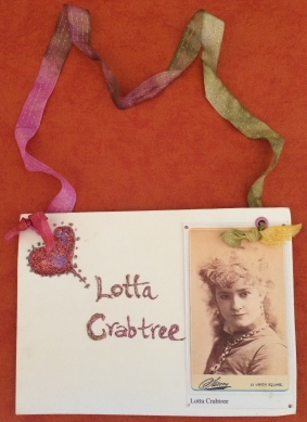 Front of the sign for a visitor to wear to become Lotta!