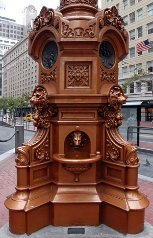This fountain is the gathering place for all survivors of the 1906 Earthquake on April 18.