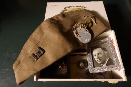 Gramma's cigar box with Grandpa's mementos from WW1